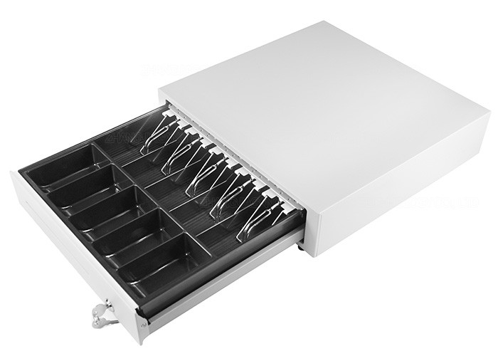 Pos Cash Drawer 420f Lockable Cash Box With Metal Clips